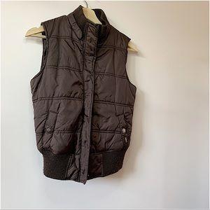 GARAGE   Brown body warmer jacket size S